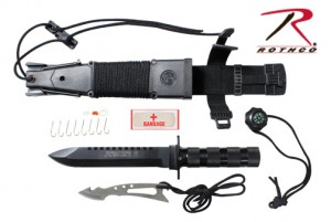 3236 ROTHCO JUNGLE SURVIVAL KIT KNIFE