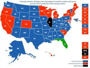 Florida CCW Permit Map